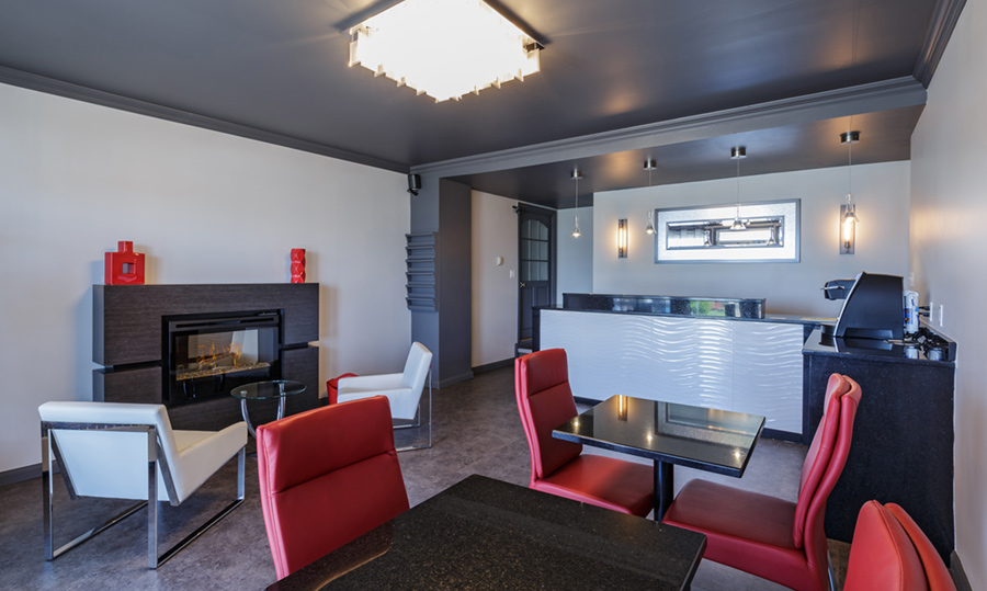 Reception -- Newly renovated reception of the Motel